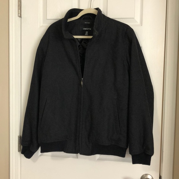 Claiborne Other - Men's Claiborne Wool Blend Bomber Jacket